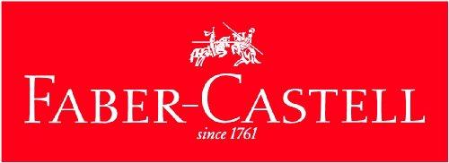 Faber-Castell 113210 - Buntstifte GRIP Heft + Tafel, 6er Etui, Inhalt: weiß, gelb, rot, blau, grün und braun -