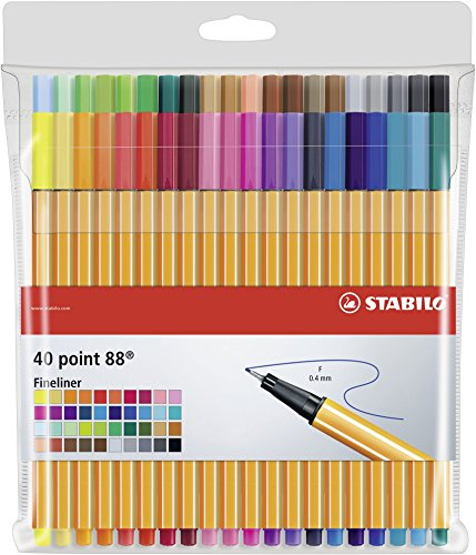 STABILO Fineliner - Point 88 - 40er Pack