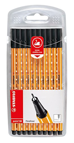 Stabilo point 88 Fineliner, 10er Pack schwarz