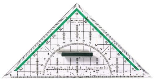 Faber Castell Geodreieck groß, mit Griff