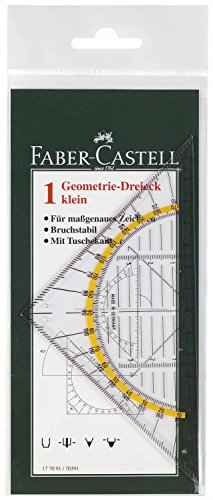 Faber-Castell Geometrie-Dreieck klein, 14 cm