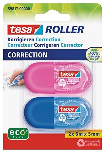 Tesa Mini Korrekturroller, 2-er Packung