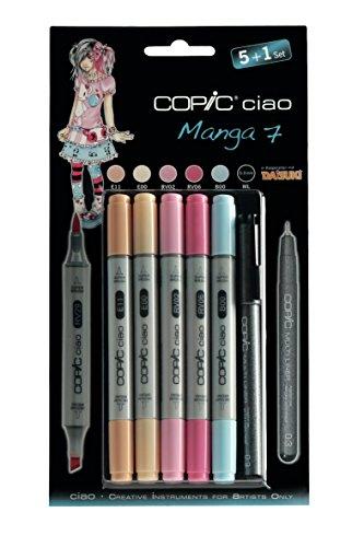 Copic ciao Set 5+1 MANGA 7 Farben-Set