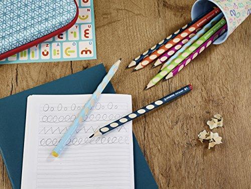 Stabilo EASYgraph Ergonomischer Dreikant-Bleistift (für Linkshänder,Härtegrad HB) 12er Pack -