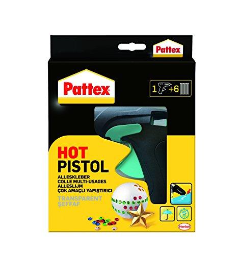 Set mit Pattex Hot Pistol Heißklebepistole + 6 Klebesticks, Ø 11 mm