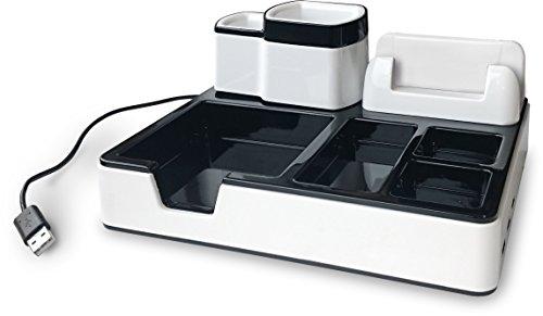 Desk Organizer Schreib-Tisch Ordnungssystem Mit 3 USB Anschlüssen Und Ladefunktion, Passend Für iPhone, Samsung u. a. Smartphones Bis 6 Zoll Von zoomyo - 5