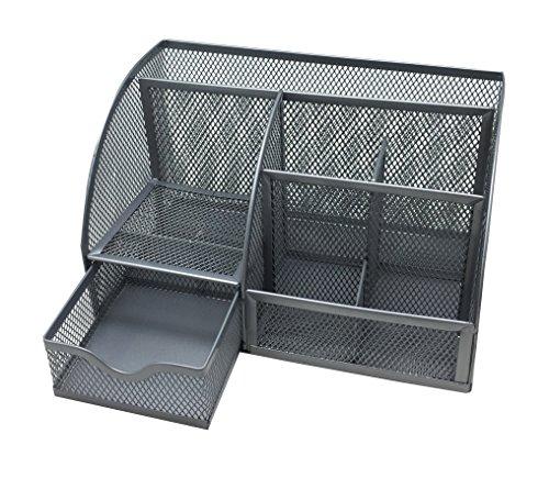 EXERZ EX348 Tisch-Organizer / Schreibtisch Organisator / Schreibtisch Tidy / Stifthalter / Multifunktions -Organisator (Silber) - 2