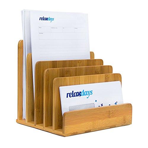 Relaxdays Dokumentenhalter aus Bambus