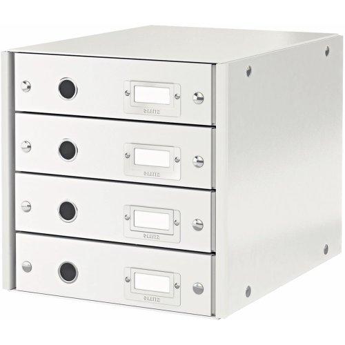 Leitz Schubladenbox Weiß, 4 Schubladen, A4