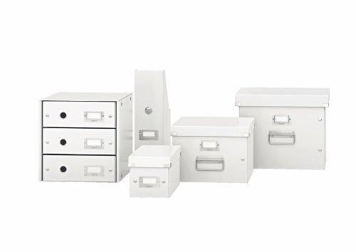 Leitz, Schubladenbox, Weiß, 4 Schubladen, A4, Click & Store, 60490001 - 2
