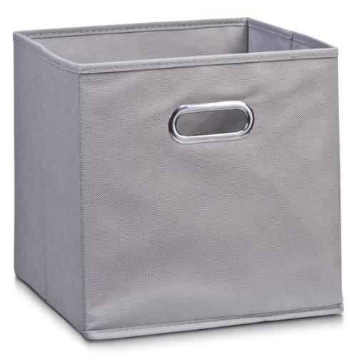 Zeller Vlies Aufbewahrungs-Box 4er Set 28 x 28 x 28 cm, farbig, faltbare Regal-Boxen Ordnungs-Boxen Regal-Korb quadratisch; 4teilig - je 1 Stück pro Farbe - 2