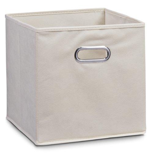 Zeller Vlies Aufbewahrungs-Box 4er Set 28 x 28 x 28 cm, farbig, faltbare Regal-Boxen Ordnungs-Boxen Regal-Korb quadratisch; 4teilig - je 1 Stück pro Farbe - 3