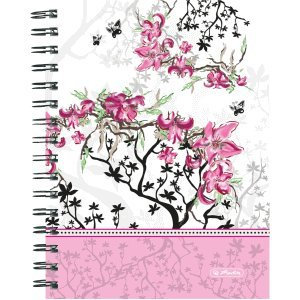 2 x Herlitz Spiral-Boutique-Block A5 Ladylike Bloom