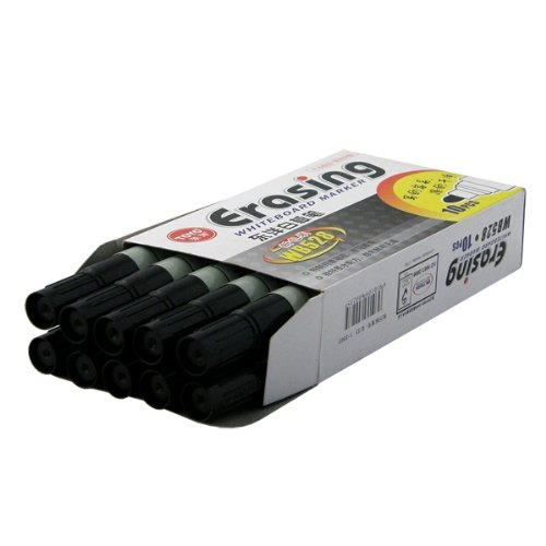 2-TECH Whiteboard Marker: 10x schwarz nachfüllbar