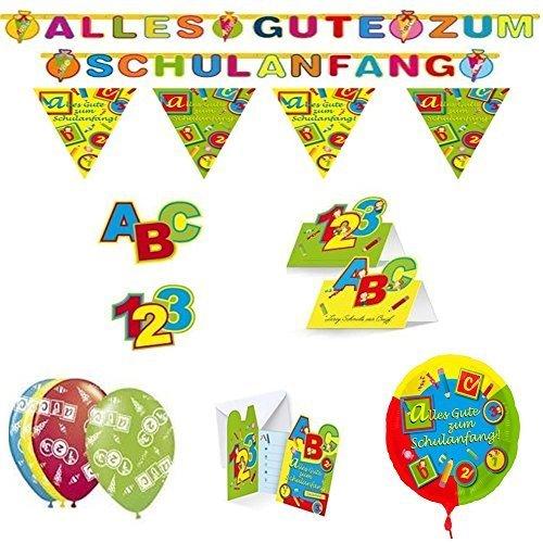 Set Einschulung 7tlg. Girlande Folienballon etc