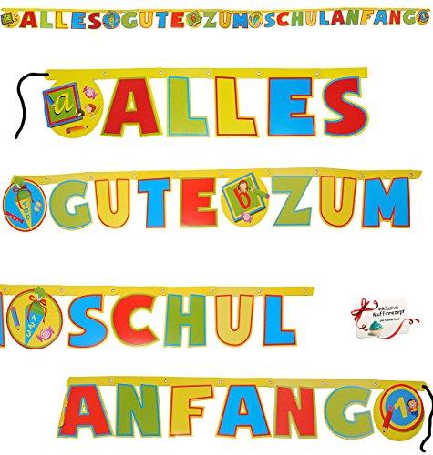 """1 XL Girlande """"Alles Gute zum Schulanfang"""""""