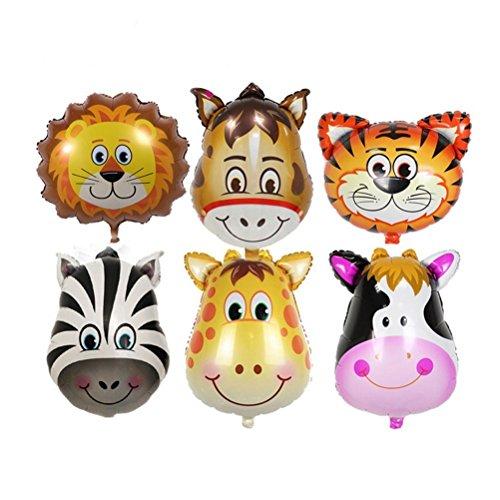 PINK SNAKE 6 Stück Tier Folienballons für Kinder