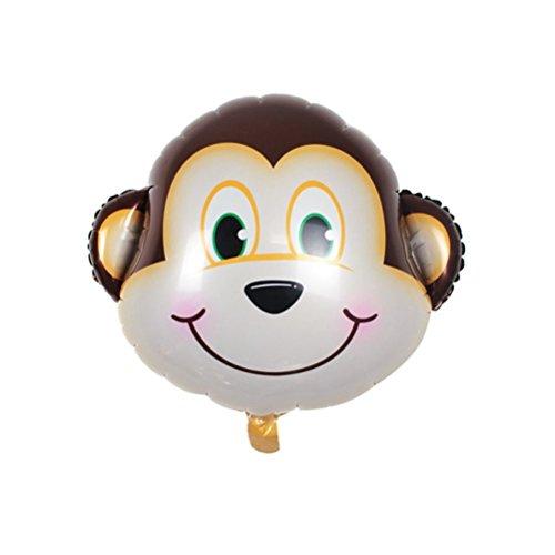 PINK SNAKE 6 Stück Folienballon Tier für Kinder Geburtstag Party Dekoration,zufällig - 6