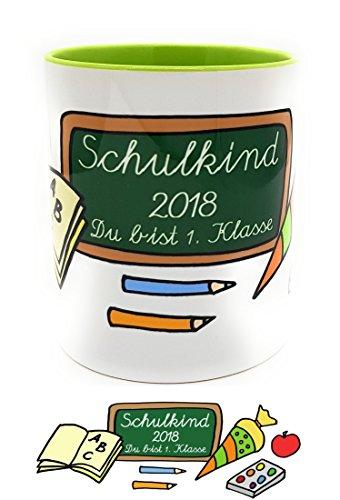 Einschulungs-Tasse Schulkind 2018 Du bist 1. Klasse