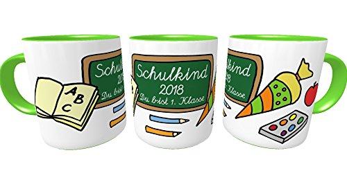 Einschulungs-Tasse Schulkind 2018 Du bist 1. Klasse zur Einschulung inkl. Geschenkverpackung Mädchen Jungen - 5