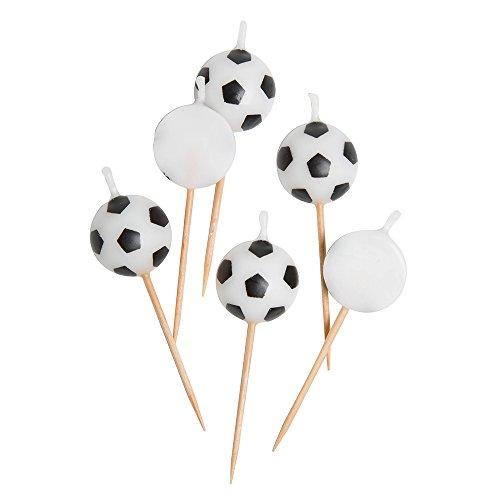 Als Fußball geformte Kerzen, 6Stück