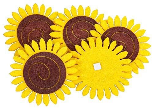 Filz-Stanzteile Sonnenblume