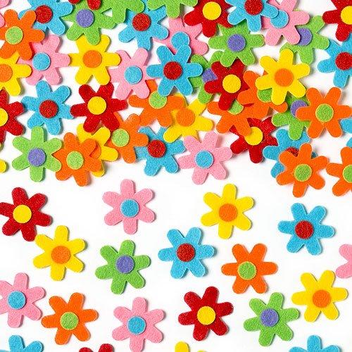 Selbstklebende Filz-Blumen zum Basteln - 60 Stück