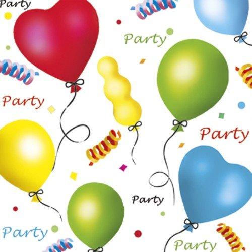 20 Servietten Luftballons & Konfetti