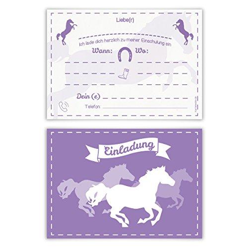 Einladungskarten Schulanfang - Pferde