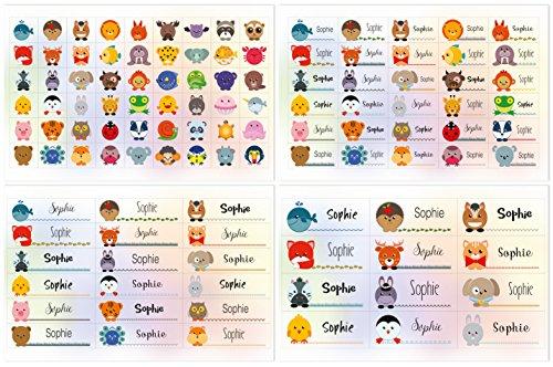 Aufkleber Sticker Namens-Etiketten rechteckig