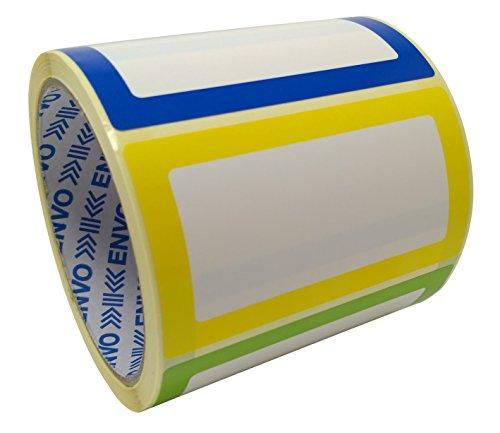 Namensschild Aufkleber Sortierte Farben 250 Etiketten