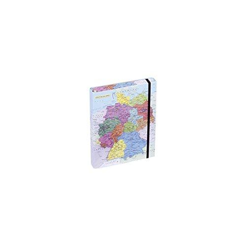Pagna Heftbox Deutschlandkarte A4 3