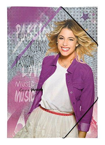 Gummizugmappe A3 Disney Violetta, pink