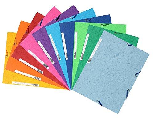 Exacompta Sammelmappen 10er Pack Farben sortiert