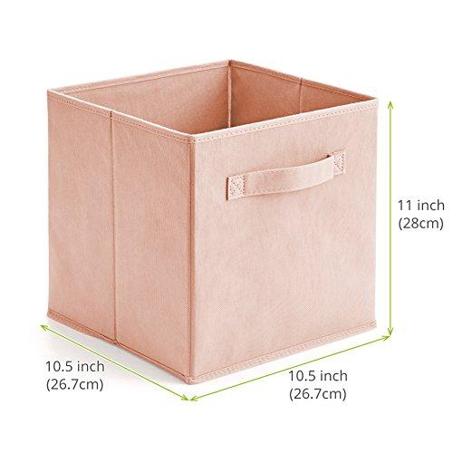 Aufbewahrungsbox, EZOWare 6er-Set Aufbewahrungskiste ohne Deckel - Pale Dogwood - 9