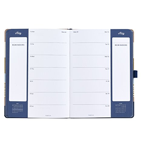 Busy B Terminkalender 2018 für Vielbeschäftigte mit doppelter Wochenansicht in modernem Design - 4