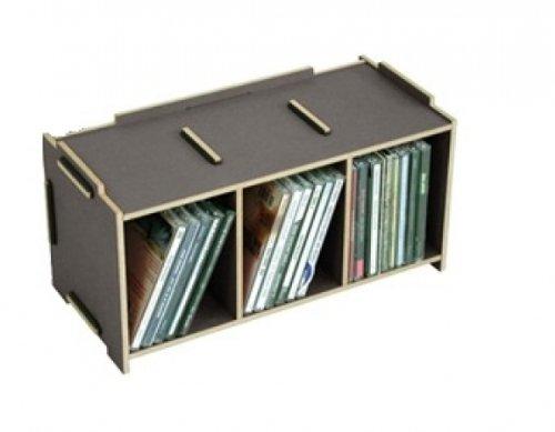 Werkhaus Medienbox CD grau dunkelgrau