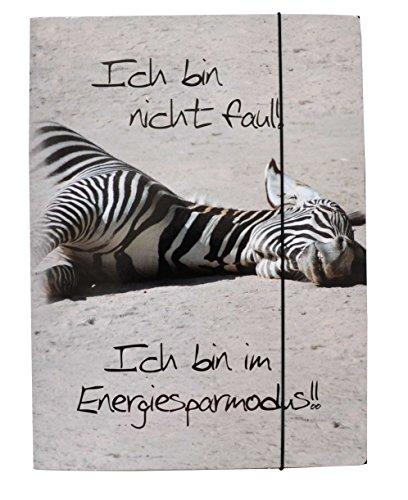Gummizugmappe Zebra