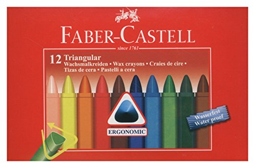 Faber-Castell Dreikant Wachsmalstifte, 12er Etui