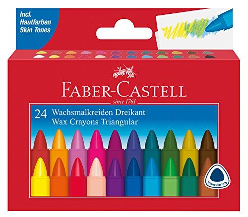 Faber-Castell Dreikant Wachsmalkreide 24er Karton