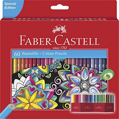 Faber-Castell Buntstift Castle, 60er Kartonetui