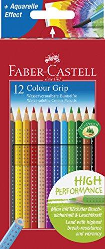 Faber-Castell Buntstifte Colour Grip, 12er Kartonetui