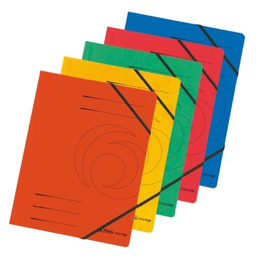 Herlitz Eckspanner A4 Colorspan, farbig sortiert, 5er