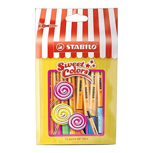 Fineliner STABILO point 88 Mini Sweet Colors 15er