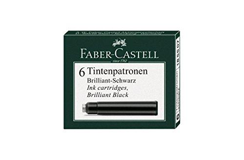 Faber-Castell Tintenpatronen Standard, 6 Stück, schwarz