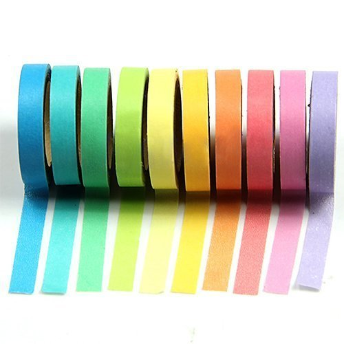 Dekorative Regenbogen Papier Washi Klebeband