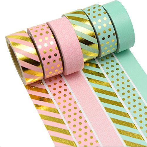 6er Set Washi Tape Dekoband Klebeband