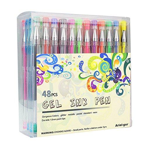 48 Stück Gelschreiber Gelstifte Set