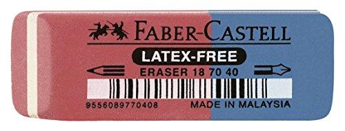 Faber-Castell 187040 - Radierer Latex-free, Tinte/Blei