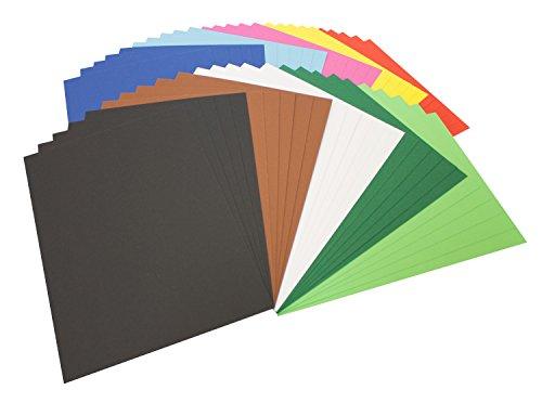 folia Fotokarton (DIN A4, 50 Blatt) farbig sortiert